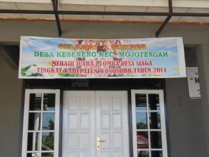 Gedung pertemuan Forum Kesehatan Desa (FKD) Keseneng tampak dari depan