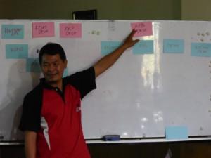 Mustika Aji menjelaskan tentang pentingnya konsistens perencanaan dan penganggaran.