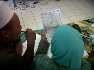 Proses pelatihan pemetaan sosial di Desa Tracap