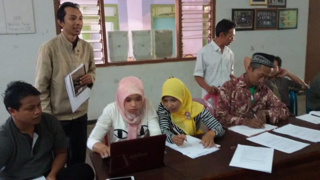 Tim Pembaharu Desa Kucur mencatat aset dan potensi desa