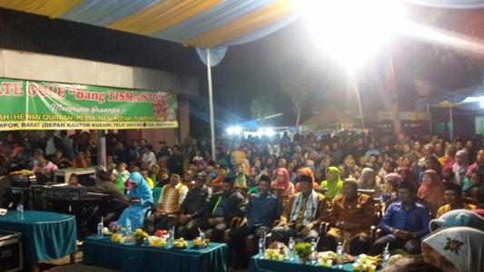 Antusias Masyarakat Desa Kucur pada Puncak Selamatan desa